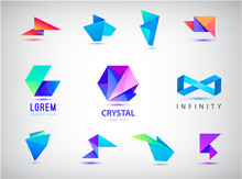 Vector Set Of Colorful Abstrac...