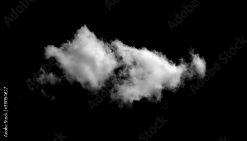 Abstract fog or smoke effect black background Wallpaper Mural