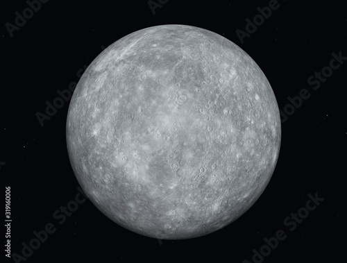 Planet Mercury Canvas