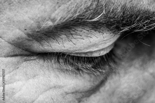 Obraz Close-Up Of Closed Human Eye - fototapety do salonu