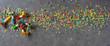 Leinwandbild Motiv Colorful carnival background