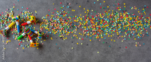 Cuadros en Lienzo Colorful carnival background
