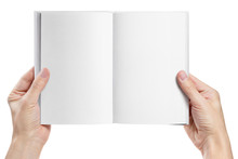 Hands Holding An Open Book Wit...