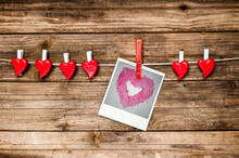 Red Hearts And Instant Photo H...