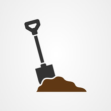 Shovel Icon Vector Design Template