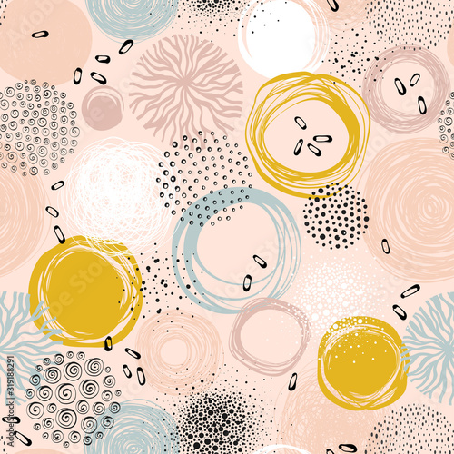plakat Creative seamless pattern. For fashion kid's wear, T-shirts, posters, cards, scrapbooking, birthday and party invitations.
