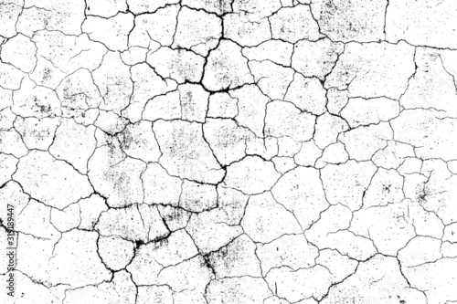 crack ground for abstract background on white background Fototapete