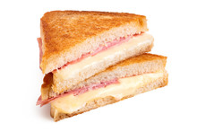 Cheese And Ham Toasted Sandwich.