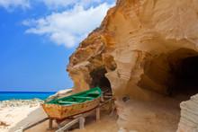 Embarcadero Tradicional En La Isla De Formentera