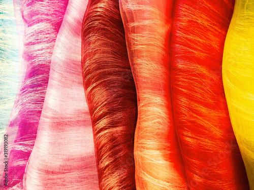 Photo カラフルでふんわりした和風の布