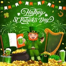 Happy Patricks Day Smiling Lep...