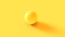 Yellow Sphere 3d Illustration ...