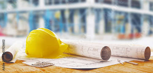 Fotografía A set of different tools for the design of engineer, 3d rendering