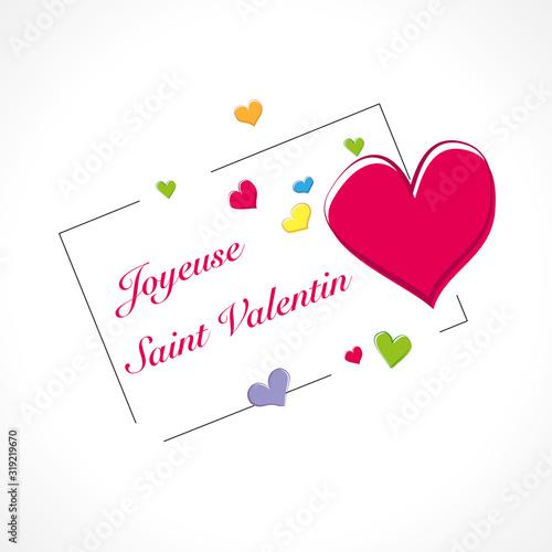 Joyeuse Saint Valentin-Cadre Wallpaper Mural