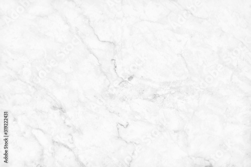 Fototapeta White gray marble texture background with high resolution, counter top view of natural tiles stone in seamless glitter pattern and luxurious. obraz