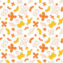 Doodle Floral Pattern Backgrou...