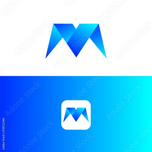 Photo m logo design. letter logo design