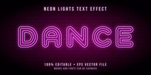 Editable Neon Lights Text Effect