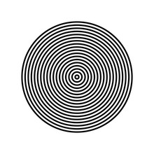 Concentric Circle Element. Bla...