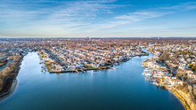 Aerial South Shore Long Island...