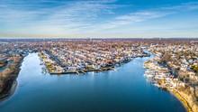 Aerial South Shore Long Island...