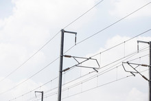 Electricity Poles On Colorful ...