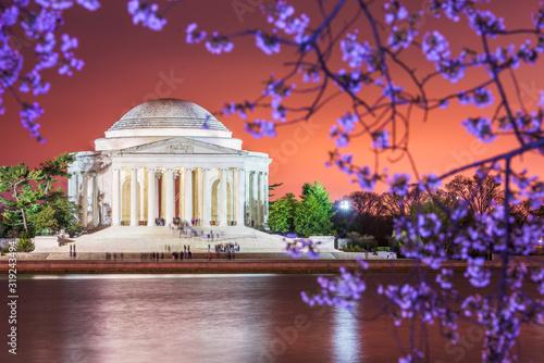 Vászonkép Washington DC, USA Skyline on the River