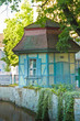 A historical, ancient, small house /pavilion of framework in Europe, Germany, Göttingen