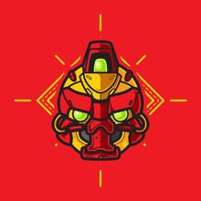 Mecha Robot Head Logo, Template Images