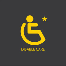 Disabled Icon Illustration Iso...