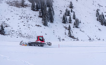 Snow Groomer In The Alps