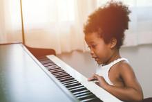 Children Girl Playing Piano Lo...