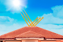 Roof Tiles With Color Shield Technology Protect Against Heat And UV Rays From Sunlight Cool The House.