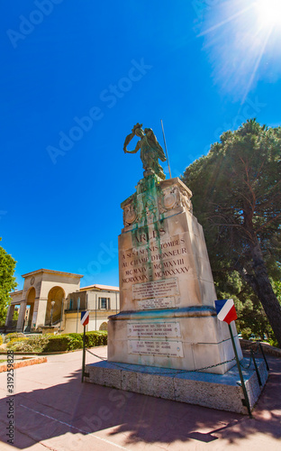 Memorial monument to French soldiers fallen in World War I and II in Arles, Fran Wallpaper Mural
