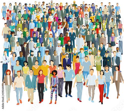 Große Gruppe von Menschen – Vektor Illustration