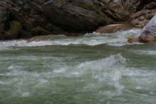 Amazing Small Water Fall Falling From Mountain. Himalayan Range