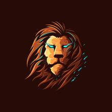 Lion Head Vector Logo Illustra...