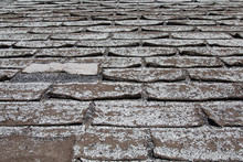 Old Worn Out Asphalt Shingles ...