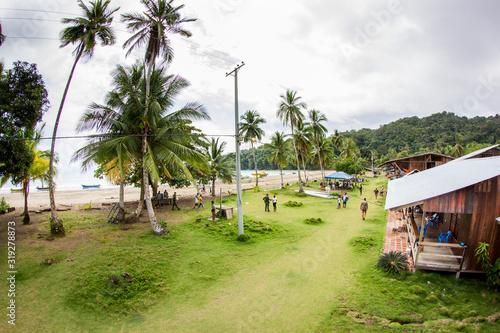 Big Game Angel Lodge in einem Fischerdorf an der Pazifikküste in Kolumbien, Bahi Canvas Print
