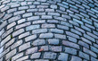 Detailed close up view on cobblestone textures in different perspectives