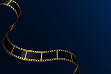 Realistic 3D Gold Cinema Film ...