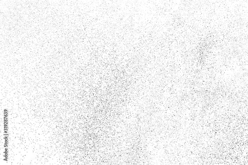 Tableau sur Toile Black Grainy Texture Isolated On White Background