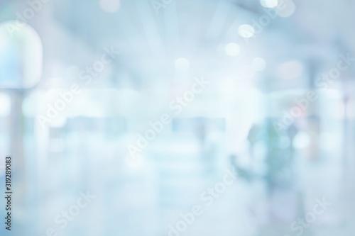 Obraz Abstract blur exhibition hallway corridor background - fototapety do salonu