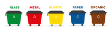 Containers For Garbage Of Diff...