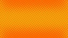 Orange Pop Art Background In R...