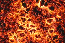 Hot Burning Coal Texture Background.