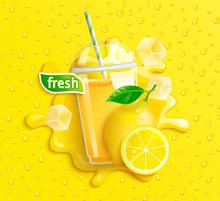 Fresh Lemon Juice With Ice And...