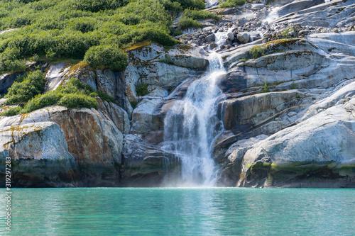 Waterfall near Dawes Glacier in Endicott Arm