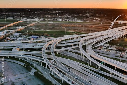 Photo réseau routier à Dallas