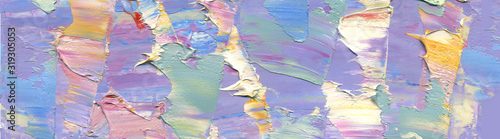 Highly-textured colorful abstract painting background Wallpaper Mural
